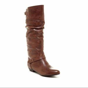 "Steve Madden Cognac Leather ""Kikiii"" Boots sz 7.5"